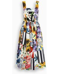 Dolce & Gabbana Floral Patchwork Print Dress - Multicolor