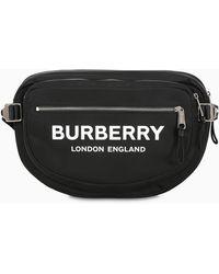 Burberry Marsupio nero con logo
