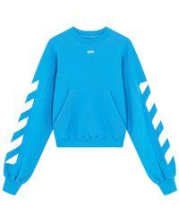 Off-White c/o Virgil Abloh Tm Light Blue Puffy Sleeves Sweatshirt
