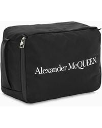 Alexander McQueen Travel Bag With Contrasting Print - Black