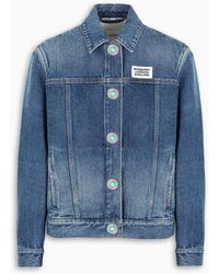 Burberry Logoed Denim Jacket - Blue