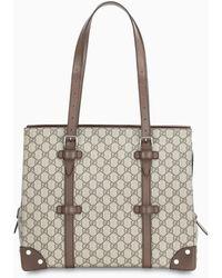 Gucci - Borsa shopping con dettagli in pelle - Lyst