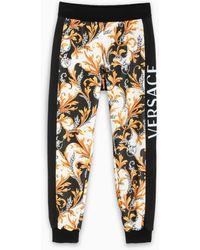 Versace Pantalone jogging stampa Acanthus - Multicolore