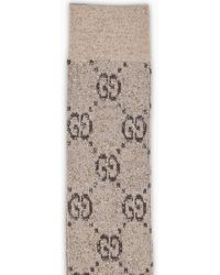 Gucci - Brown Socks With Lame GG - Lyst