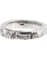 Emanuele Bicocchi Anello Band in argento - Metallizzato