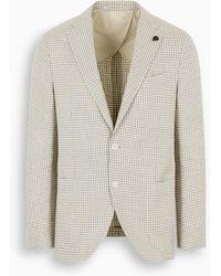 Gabriele Pasini Beige Single-breasted Jacket - Natural