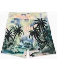 Palm Angels Bermuda con stampa Paradise - Multicolore