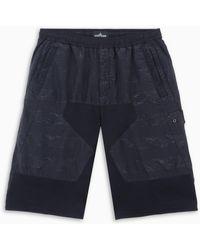 Stone Island Shadow Project Panelled Bermuda Shorts Ss20 - Black