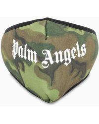Palm Angels Mascherina con stampa camouflage - Verde