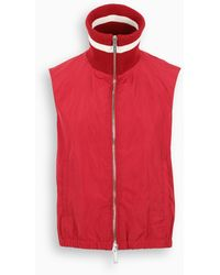 DSquared² Sleeveless Zip-up Vest - Red