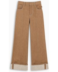 Chloé Brown Wide-leg Jeans