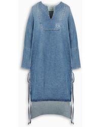 Loewe Denim Tunic Dress - Blue