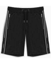 Givenchy Bermuda nero con bande laterali