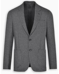Ferragamo Gray Single-breasted Jacket