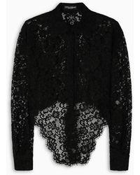 Dolce & Gabbana Camicia in pizzo nero