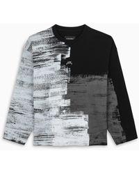 A_COLD_WALL* * T-shirt a manica lunga nera Brush Stroke - Nero