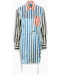 Loewe Striped Silk Shirt - Blue