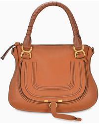 Chloé Handbag Large Marcie - Brown