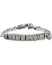 Emanuele Bicocchi Curb Chain Bracelet In Silver - Metallic