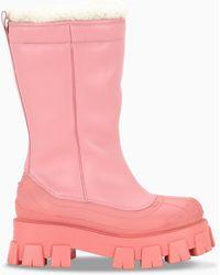 Prada Monolith Boots - Pink
