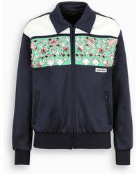 Miu Miu Multicolor Field Jacket With Crystals Embellishment - Blue