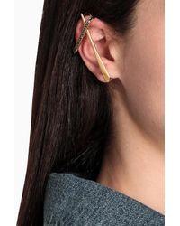 Alexander McQueen Ear cuff con cristalli - Nero