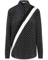 Stella McCartney - Long-sleeved Ink Blue Silk Shirt - Lyst