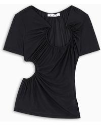 Off-White c/o Virgil Abloh TM T-shirt cut-out nera - Nero
