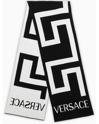 Versace /white Greca Scarf - Black