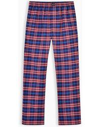 Balenciaga Blue And Red Check Flannel Pajama Pants