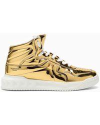Valentino Garavani Valentino garavani sneaker dorata in pelle lucida - Metallizzato
