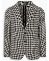Tagliatore Houndstooth Pattern Montecarlo Jacket - Black