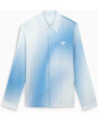 Prada Camicia a righe sfumata bianca/azzurra - Blu