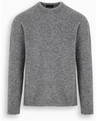 Roberto Collina Gray Cashmere Sweater