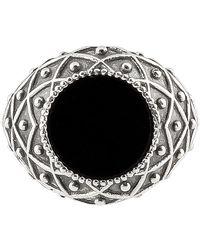 Emanuele Bicocchi Anello Onyx Stone in argento - Multicolore