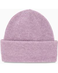 Samsøe & Samsøe Pink Nor Beanie Hat - Purple