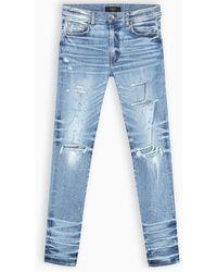 Amiri Jeans skinny con strappi - Blu