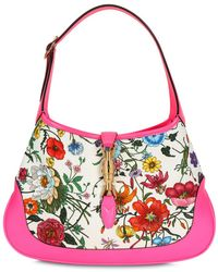 Gucci Jackie Flora Fuchsia Hobo Bag - Red