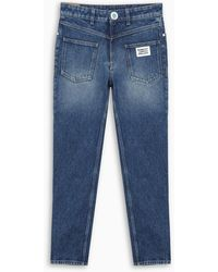 Burberry Straight-fit Logo Jeans - Blue
