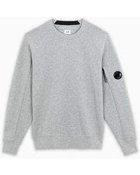 C.P. Company Grey Pile Sweatshirt
