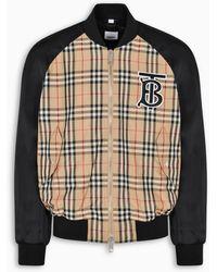 Burberry Monogram Motif Vintage Check Nylon Bomber Jacket - Multicolour