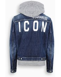 DSquared² Giacca denim ICON - Blu