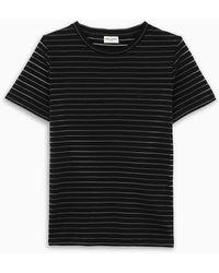 Saint Laurent - T-shirt girocollo a righe - Lyst