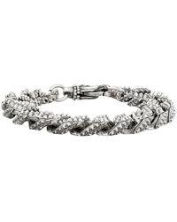 Emanuele Bicocchi Bracciale Chain in argento - Metallizzato