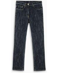 Ferragamo Jeans blu con tasche in pelle