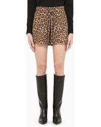 Valentino Pantalone corto leopardato in lana - Nero