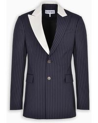 Loewe Pinstripe Tuxedo Jacket - Blue