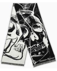 Alexander McQueen Black/ivory Skull Scarf