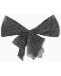 Saint Laurent Brooch With Polka Dot Bow - Black