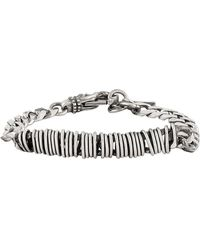 Emanuele Bicocchi Bracciale Curb Chain in argento - Metallizzato